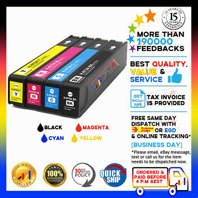 AU155 • Buy 4x NoN-OEM Ink Cartridges 975A 975 A For Hp PageWide Pro MFP 477dw Printer