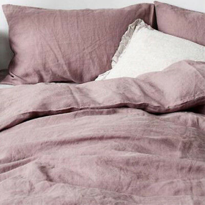 AU169 • Buy Washed French Flax Linen Sheet,Quilt Duvet Doona Cover Pillowcase,Queen 7 Colors