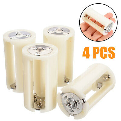 AU4.99 • Buy 4x 3x AA To D Size Battery Converter Adapter Holder Switcher Case Container Box