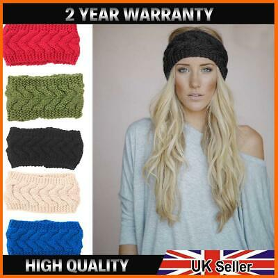 Women Knitted Knot Headband Head Wrap Hair Band Winter Crochet Turban Thermal • 3.79£