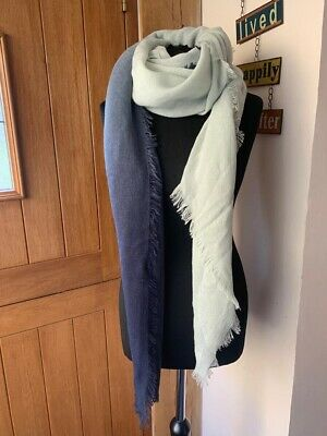 Large Calvin Klein Womens Blue Scarf Wrap Beach Cover • 9.99£