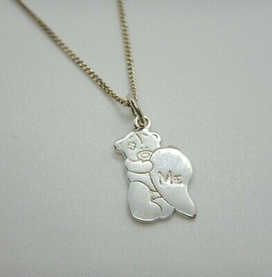Silver Necklace Pendant Me To You Better Heart 'Me'  Good Condition • 12.99£