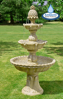 £507.99 • Buy Antique Stone Effect Water Feature Cascade Classical Regal Fountain 3 Tier