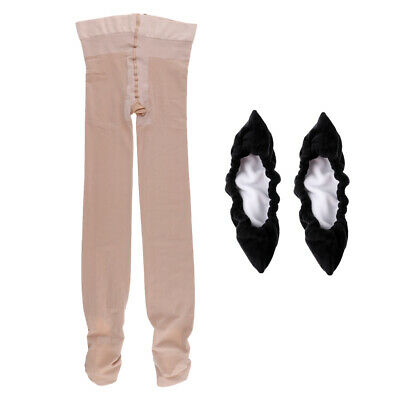 Footed Roller Ice Skating Tights For Girls Youth & Black Skated Blade Cover • 17.42£