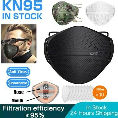 $ CDN17.77 • Buy Washable Reusable Mask Mouth Nose Separate Activated Carbon Filter Respirator
