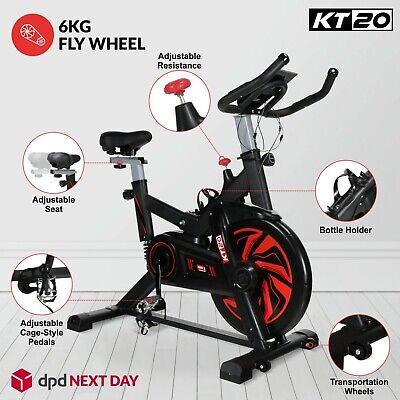 8kg Flywheel Stationary Exercise Spinning Spin Bike Home Fitness Workout Cardio • 259.99£