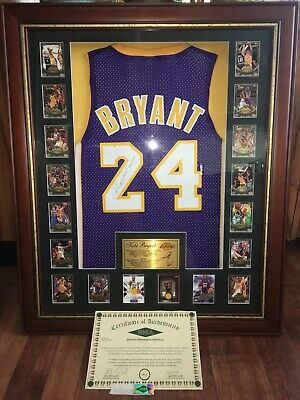 AU53400 • Buy Kobe Bryant Signed Framed Jersey With Certificate Of Authenticity (One Only)