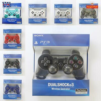 SONY PS3 DualShock 3 Controller SixAxis Bluetooth Wireless PlayStation 3 GamePad • 12.99£