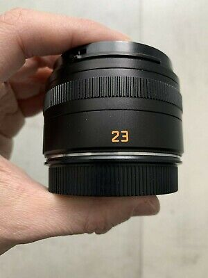 Leica Summicron T 23mm F/2 ASPH Lens Black Anodised • 875£