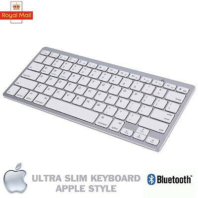 New Slim Wireless Bluetooth Keyboard For Imac Ipad Android Phone Tablet Pc Uk • 11.90£