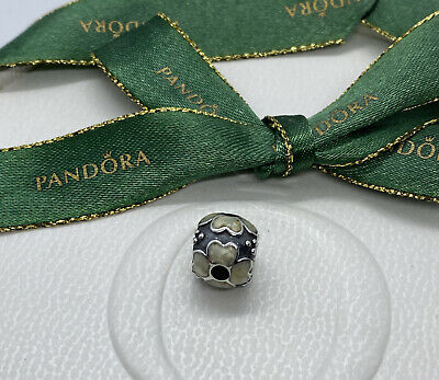 AU25 • Buy Pandora Silver Black & White Enamel Daisy Flower Charm #790433EW Authentic Ale