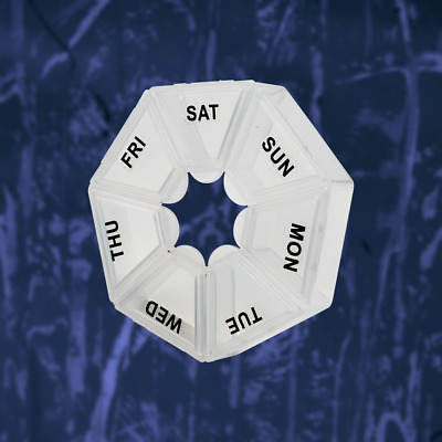 AU6.99 • Buy 7 Day Heptagon Pill Box Medicine Tablet Dispenser Weekly Organiser Holiday Home