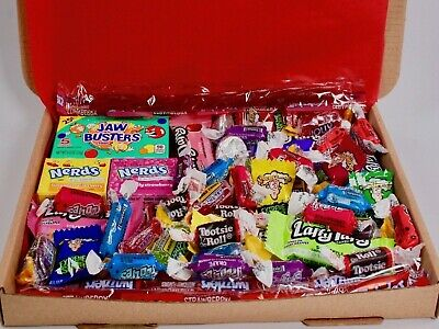 50 Items American Sweets Gift Box - USA Candy Hamper - Nerds - Jolly Ranchers  • 7.99£