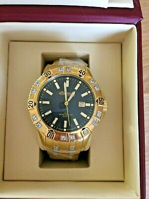 Ingersoll Gents Gold Plated Gem Set Dress Watch Rrp £275 Boxed • 95£
