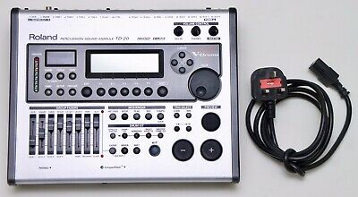AU1074.49 • Buy Roland TD-20 Drum Module Brain Electronic V-Drums With Power Supply And Mount