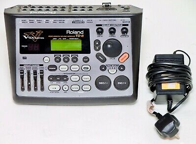 AU406.32 • Buy Roland TD-8 Electronic Drum Module Brain V-Drums With Power Supply And Clamp