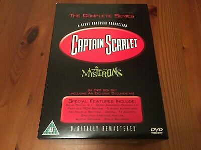 Captain Scarlet & The Mysterons (Region 2) 6 Disc DVD Box Set • 14.99£