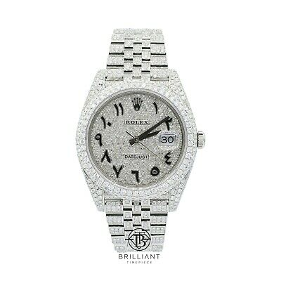 $ CDN27294.67 • Buy Mens Rolex Datejust II 126300 Stainless Steel 41MM Full Diamond Watch 25.5Ct