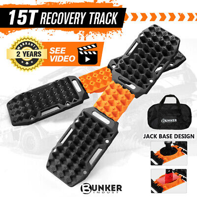 AU199.95 • Buy BUNKER INDUST 4x Recovery Tracks Sand Track Black 15T 4WD Car Accessories 4x4