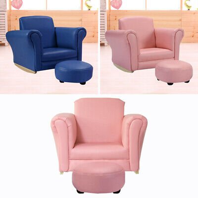 £49.95 • Buy Child Rocking Sofa Chair Seat Armchair Playroom Bedroom Girls Couch W Footstool