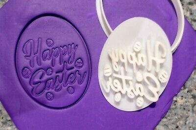AU8.95 • Buy Happy Easter Egg Cookie Fondant Embosser And Cutter, 3D Printed