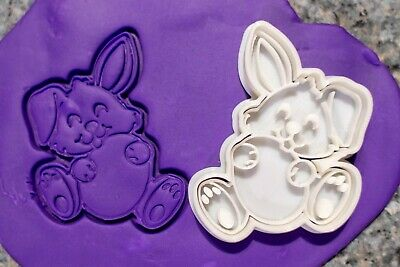 AU8.95 • Buy Easter Bunny With Egg Cookie Fondant Embosser And Cutter, 3D Printed