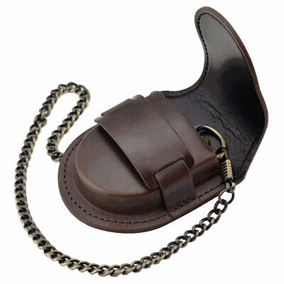 £7.59 • Buy New Pocket Watch Leather Case Pouch Storage Holder Box Bag Belt Attachment SY