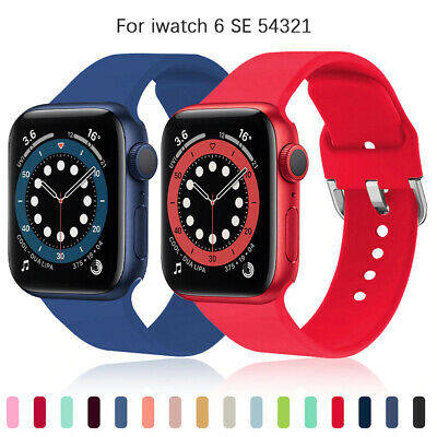 $ CDN4.35 • Buy Silicone Strap Band For Apple Watch Sports Series SE 6 5 4 3 2 1 38/40/42/44mm