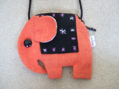 Cute Childens Ethnic Elephant Purse With Cord • 1.99£