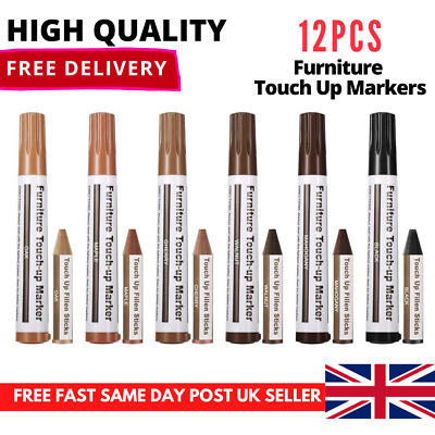 12Pcs Furniture Touch Up Markers Remove Scratches Laminate Wood Floor Repair Pen • 6.99£