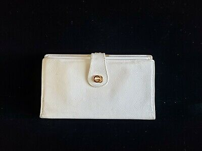 $29 • Buy Authentic Vintage Gucci White Leather 1970's Ladies Coin Purse Wallet