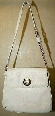 $ CDN10.97 • Buy Kate Spade Ivory Leather Crossbody Strap Purse Green Interior