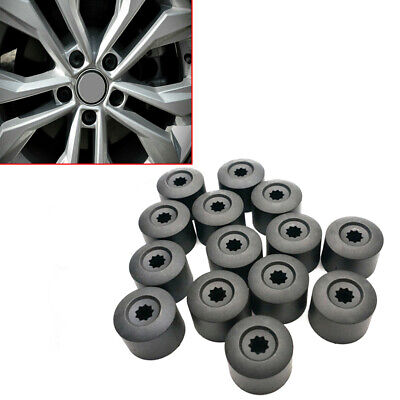 20x Black ABS Plastic Car Wheel Nut Bolt Covers Caps 17mm Lugs Car Accessories • 4.26£
