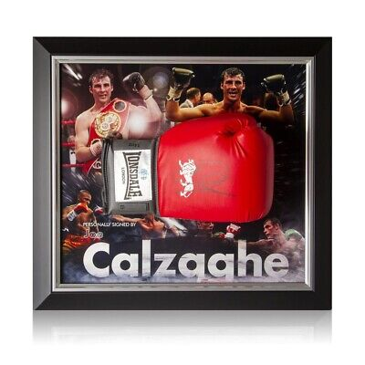 AU478.54 • Buy Joe Calzaghe Signed Boxing Glove Framed