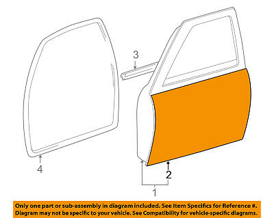 $629.28 • Buy TOYOTA OEM 95-04 Tacoma-Door Skin Outer Panel Right 6711104051