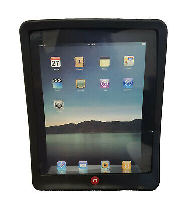 £2.95 • Buy Black Silicone Jelly Skin TPU Case Cover For Apple IPad 1st Gen 2010 1G Screen