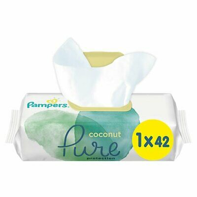 £4.35 • Buy Pampers Wipes Pure Coconut 42