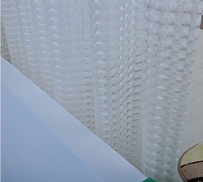 Square Shower Curtain 3D Design With 12 Hooks Waterproof  Clear 180cm X 180cm • 7£