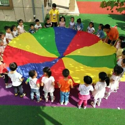 3 Meter Kids Play Parachute Children Rainbow Outdoor Game Exercise Sport Toy Ss • 12.36£