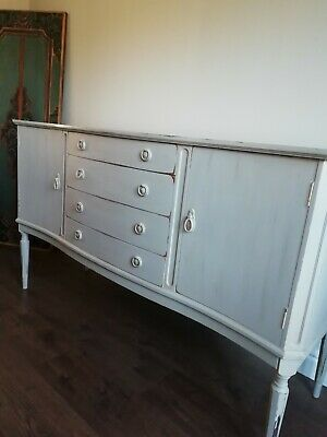 Shabby Chic Sideboard, Upcycled With Annie Sloan Grey Chalk Paint. Lovely.. • 55£