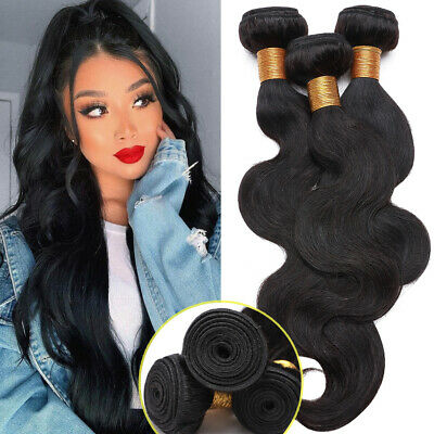 £13.13 • Buy 100%Real Virgin Peruvian Body Wave Bundles Human Hair Extentions Weave Weft SOFT