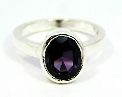 AU62.95 • Buy Natural Alexandrite Stone Occasions 925 Sterling Silver Ring Size 9