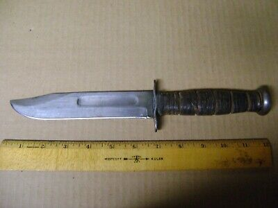 $51 • Buy Vintage Original WW2 KABAR USN USMC Mark2 MKII Fighting Combat Knife RAZOR Sharp