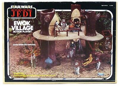 $ CDN569.46 • Buy Vintage Kenner Star Wars Return Of The Jedi Ewok Village Playset Complete W/Box