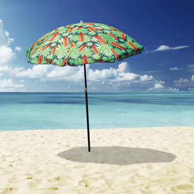 AU59.95 • Buy 1.8m Folded Beach Umbrella With Carry Bag  Outdoor Beach Pool Camping Party