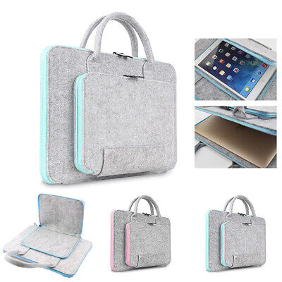 Wool Felt Laptop Bag 11 13 15 17 Inch Tablet Mouse Bags Briefcase For Laptop UK • 12.35£