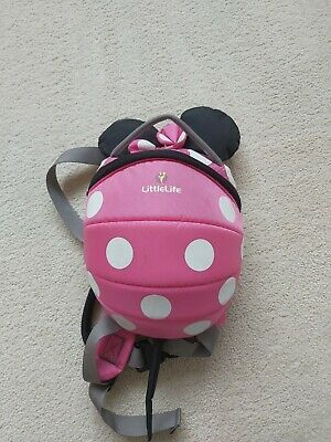 LittleLife Disney Toddler Minnie Mouse Backpack With Rein - Pink • 9.50£