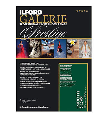Ilford GALERIE Prestige Smooth Gloss 8.5x11 Inches, 100 Sheet Pack 2001739 • 47£