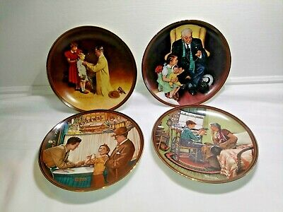 $ CDN25.51 • Buy Knowles Norman Rockwell (4) Plates 1988, 89, 89, 89 Limited Edition FREE SHIPPIN