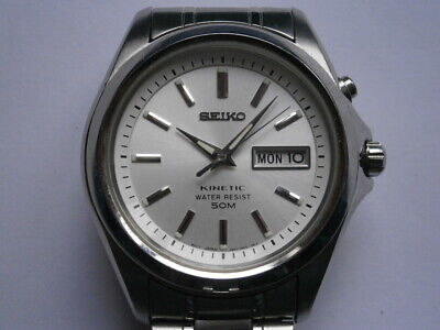 $ CDN46.64 • Buy Vintage Gents Wristwatch SEIKO KINETIC 50 M Watch Spares Or Repair 5M63A